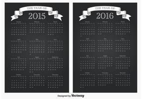 2105/2016 Calendários vetor