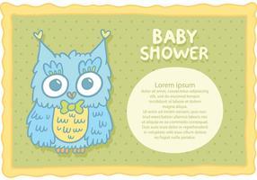 Vetor livre coruja chuveiro bebê