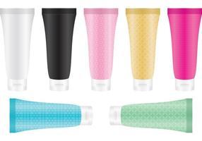 Cosméticos de tubo de plástico vetor