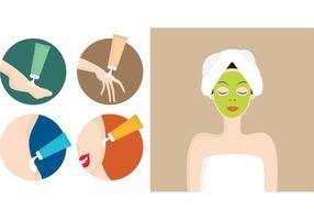 Logos de tratamento de beleza vetor