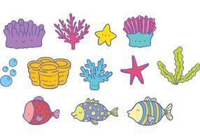Vetor de peixes de recife de coral livre