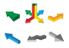 Ícones isométricos de vetor