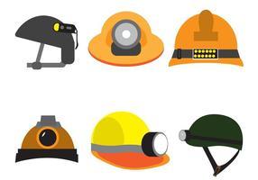 Conjunto de cascos de vetores grátis
