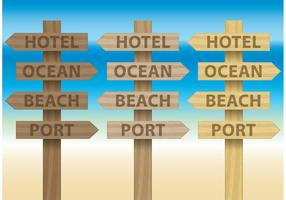 Painéis para placas de praia vetor