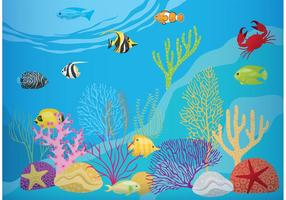 Recife de corais com peixe