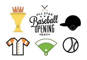 Dia de abertura do beisebol vetor