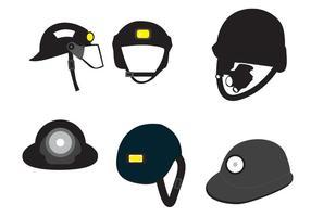 Ícones do capacete de vetores