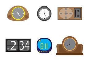 Ícones de relógio de vetor grátis