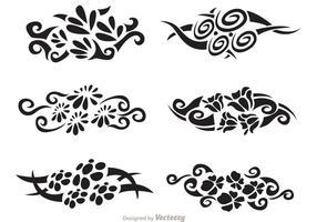 Pacote de vetores tribais havaianos florais