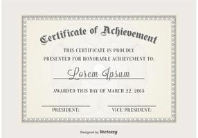 Modelo de vetor de certificado