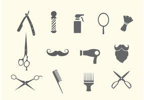 Barbeiro e vetores de salão