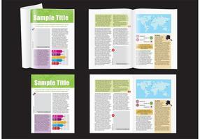 Layout do mapa de revistas vetor