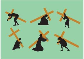 Jesus carregando os vetores de cruz