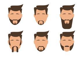 Vetores de homens com barba