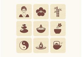 Ícones de vetores zen gratuitos