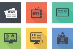 Novos ícones de notícias recentes vetor