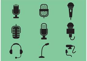 Ícones de vetor de microfone