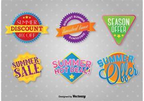 Etiquetas de promoções de verão
