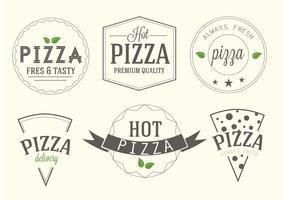 Etiquetas de pizza de vetores grátis