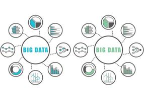 Infografia de dados grandes vetor