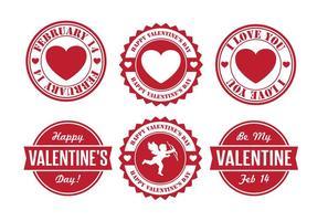 Distintivos do Dia dos Namorados vetor