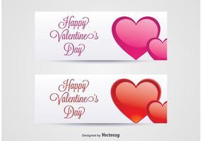 Banners do dia dos namorados vetor
