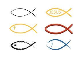 Vector símbolo de peixe cristão