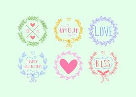 Coroa de corações de amor vetor
