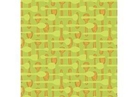 Vector de padrão sem costura de colher de madeira grátis