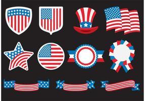 Emblemas americanos vetor