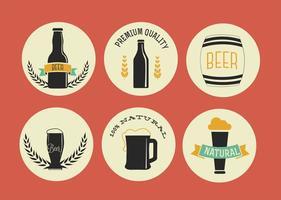 Etiquetas de cerveja grátis para vetores
