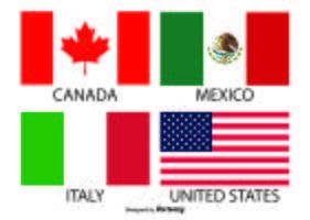 Bandeiras do vetor