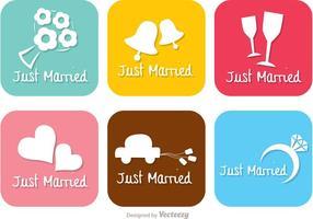 Brilhante Just Married Vectors