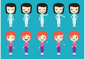 Figuras femininas de negócios vetor