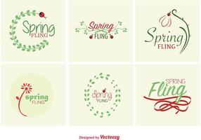 Sinais tipográficos da Primavera vetor