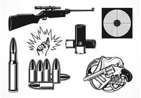 Conjunto de tiro de vetores gratuito