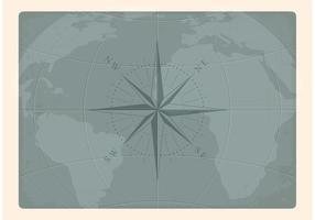 Mapa da Terra Náutica do Vetor Gratuito