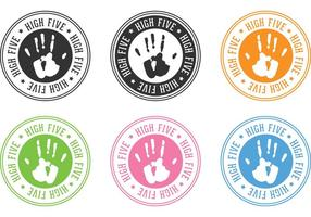 Selos personalizados Handprint infantil para crianças vetor