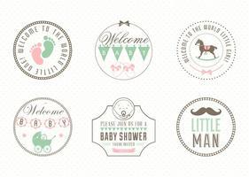 Vetor de etiqueta de bebê grátis