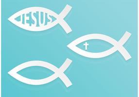 Livre vetor abstrato do símbolo do peixe cristão