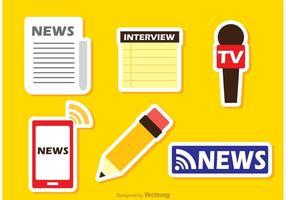 Vetores coloridos da última etiqueta da notícia