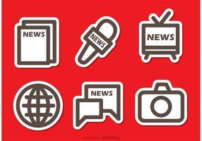 Vetores simples de ícones de mídia de massa