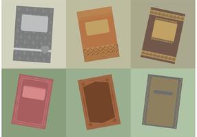 Capas de livros antigos vintage vetor