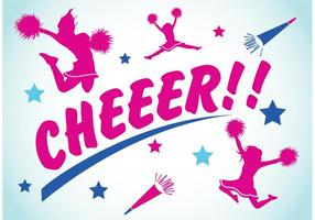 Cheerleading backgrounds 2 vetor