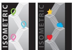 Escada isométrica vetor