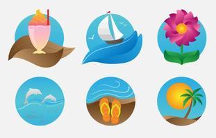 Ilustrações de praia de verão