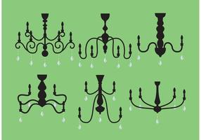 Pacote de vetores de candelabros de cristal