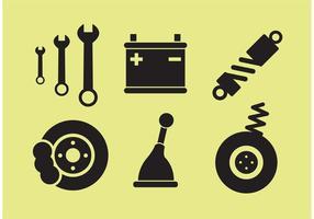 Vetores de peças de carro