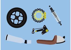 Vetores de peças de motocicleta