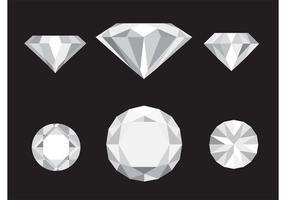Ícones de diamante vetorial vetor